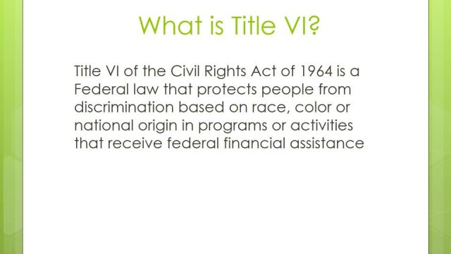 Title VI Rights Overview
