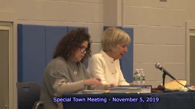 Special Town Meeting 11-5-19