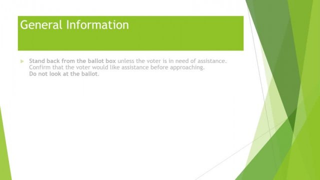 ~Ballot Box Instructions