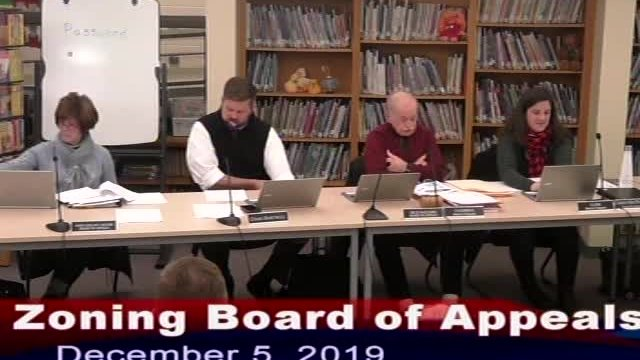 Zoning Board of Appeals 12-5-19