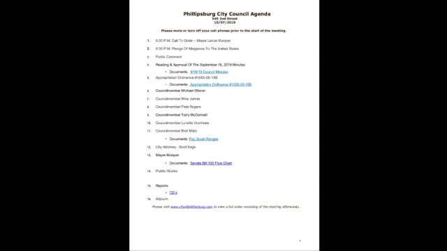 10/07/2019 City Council Meeting