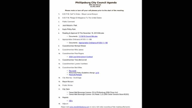 12/02/2019 City Council Meeting