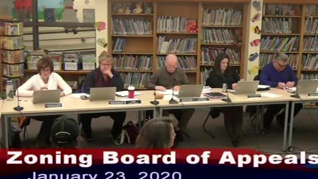 Zoning Board of Appeals 1-23-2020