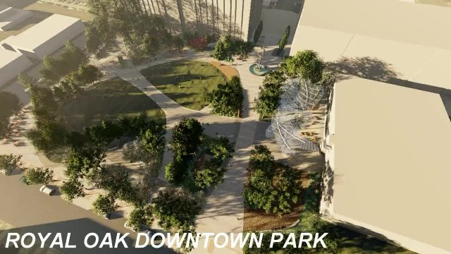 ROYAL OAK - DOWNTOWN PARK ANIMATION - Option A