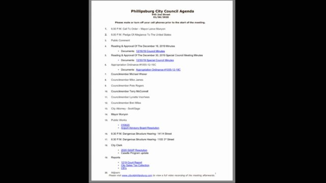 01/06/2020 City Council Meeting