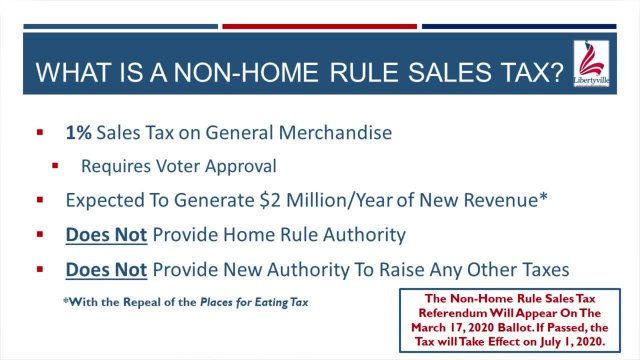 Non-Home Rule Sales Tax Referendum