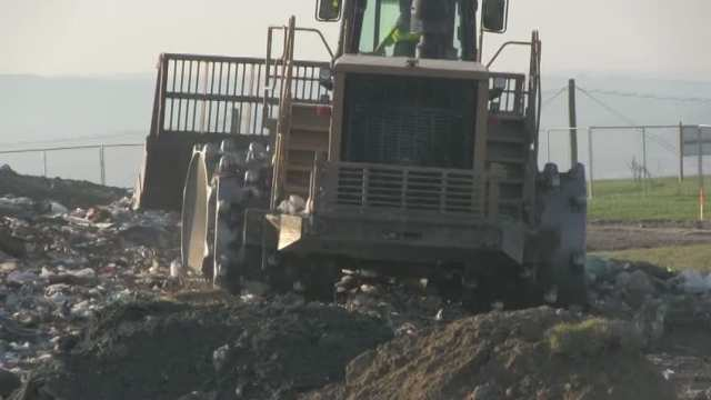October 2, 2013 Compactor working in am