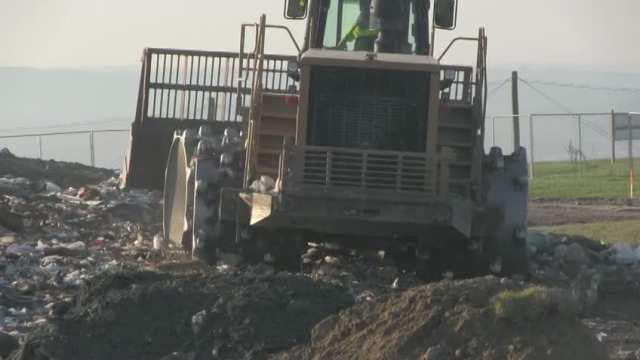 October 2, 2013 Compactor working in am