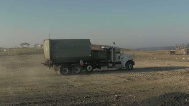 Roll Off Truck with a Compactor Container