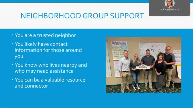 COVID-19 Resources for Neighborhood Groups