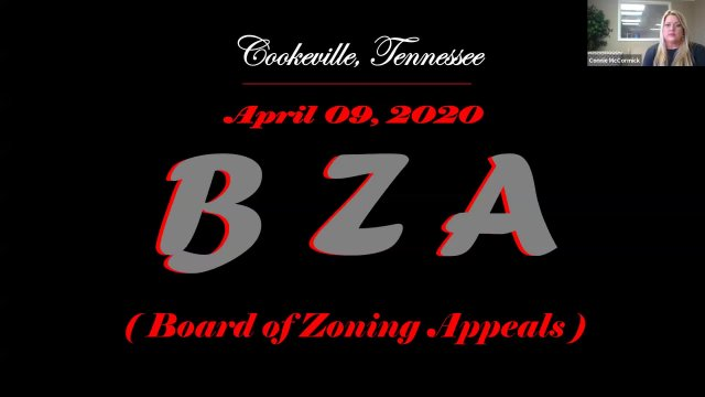 Board of Zoning Appeals - April 09, 2020