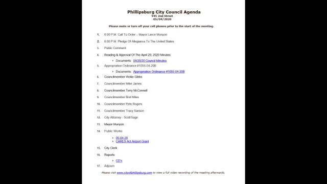 City Council Meeting 05/04/2020