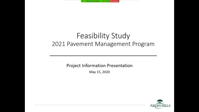 2021 Pavement Management Program - Feasibility Stu