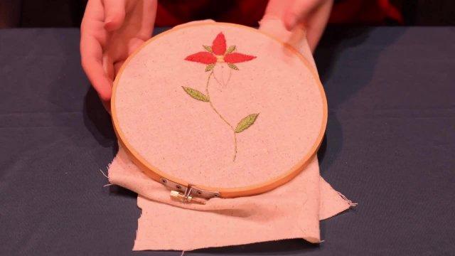 Sewing (Fishbone Stich)