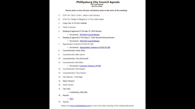 City Council Meeting 06/01/2020