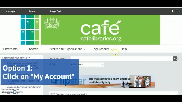 CAFE Classroom:  How to Log into Your CAFE Account