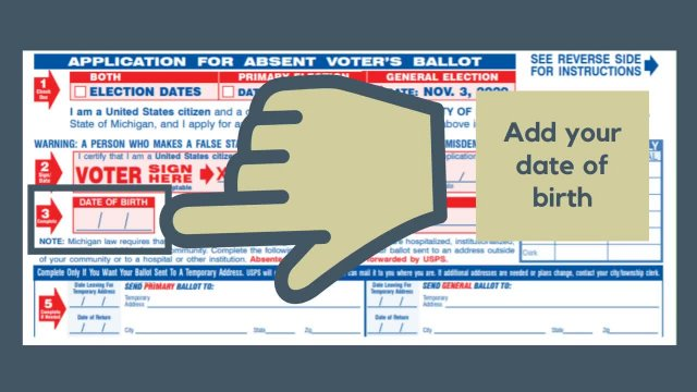 Absent Voter Applications Sent to All  MI Voters