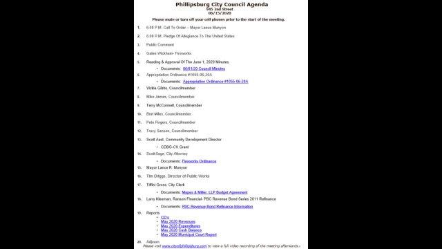 City Council Meeting 06/15/2020