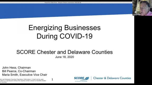 Restore Chester County' Webinar: Energizing Busine