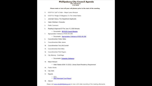 City Council Meeting 07/06/2020