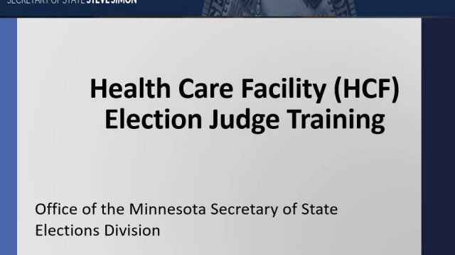 Healthcare Facility Election Judge Training