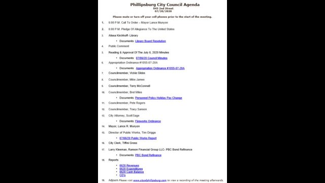 City Council & PBC Meeting 07/20/2020