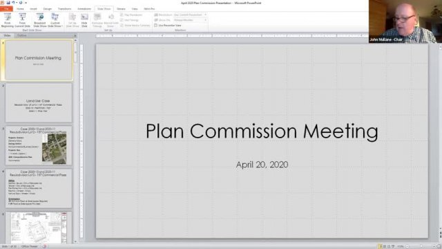 Plan Commission Meeting (4-20-20)