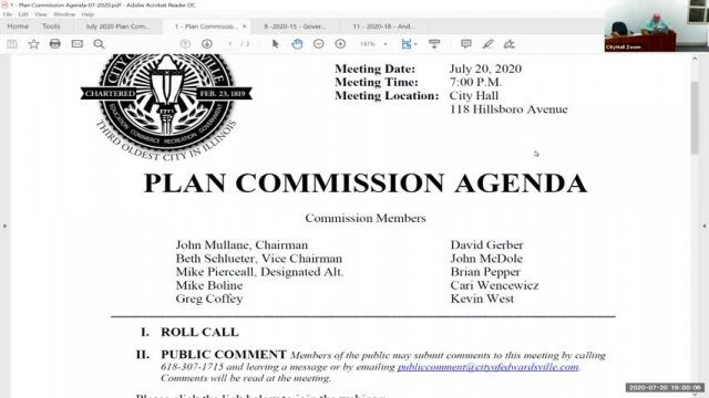 Plan Commission Meeting (7-20-20)