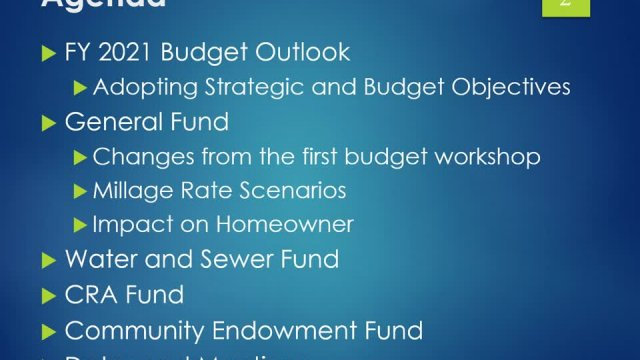 Budget Workshop Presentation Final To Council