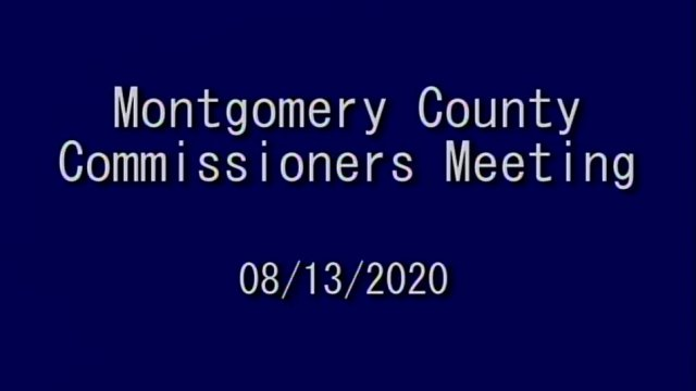 Montgomery County Commissioners Meeting 8-13-2020