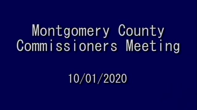 Montgomery County Commissioners Meeting 10-1-2020
