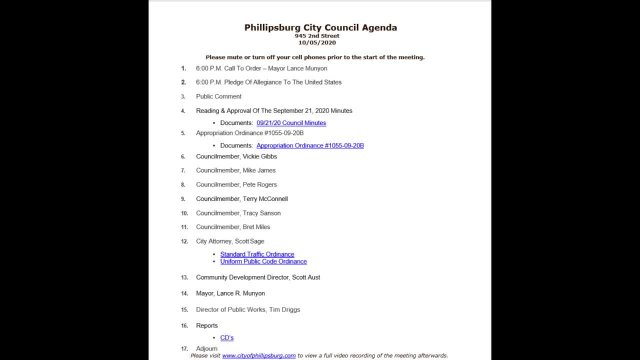 City Council Meeting 10/05/2020