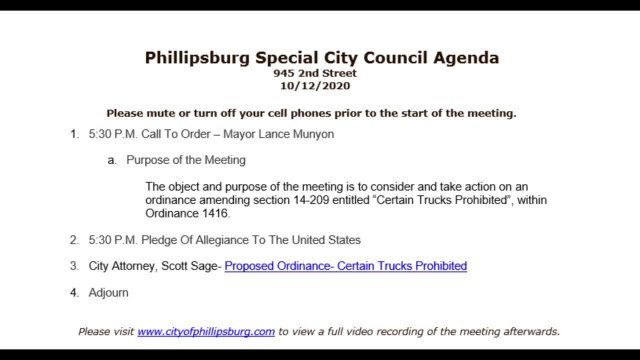 Special City Council Meeting 10/12/2020