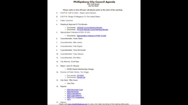 City Council Meeting 10/19/2020