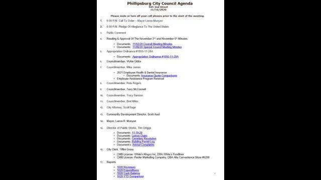 City Council Meeting 11/16/2020
