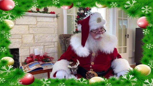 "Santa Reads ""The Night Before Christmas"" at the Li"