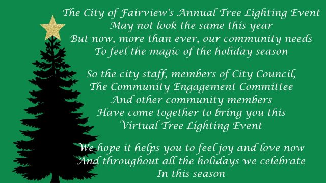 2020 Tree Lighting Fairview