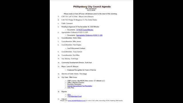 City Council Meeting 12/07/2020