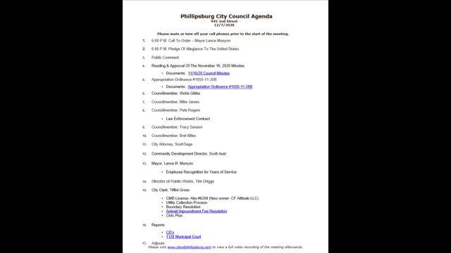 City Council Meeting 12/07/2020