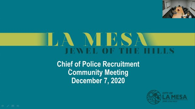 Chief of Police Recruitment Community Meeting
