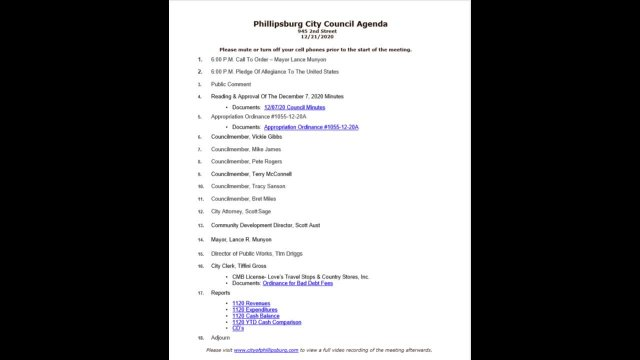 City Council Meeting 12/21/2020