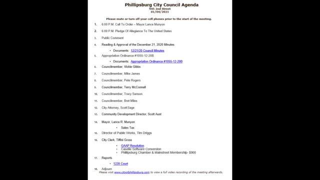 City Council Meeting 01/04/2021