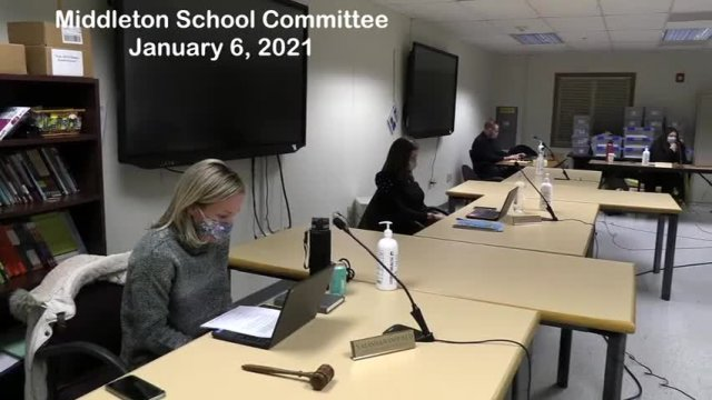 Middleton School Committee 1-6-2021