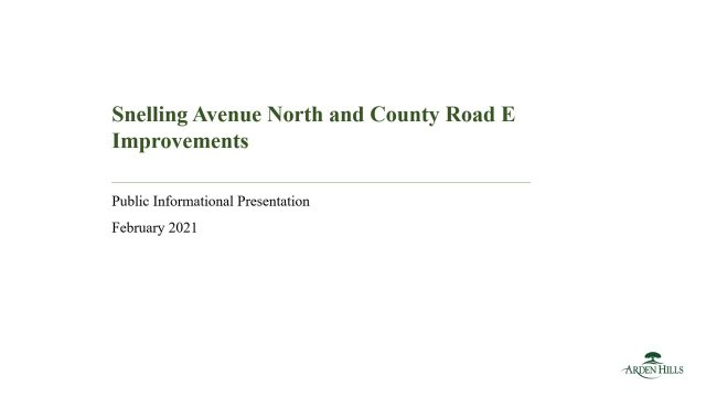 Snelling Ave North and County Rd E Presentation