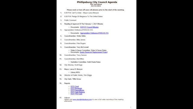 City Council Meeting 02/15/2021