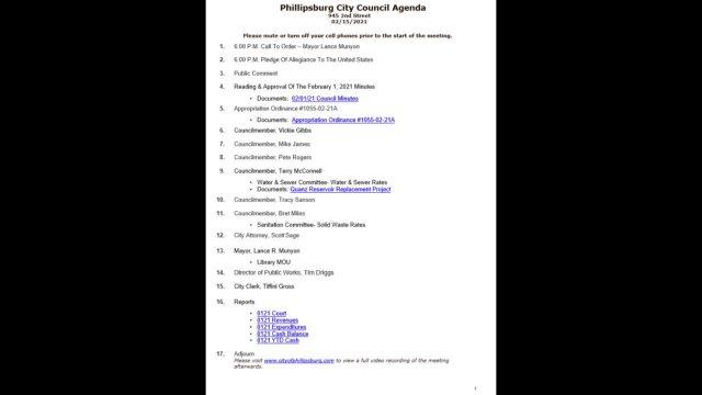 City Council Meeting 02/15/2021