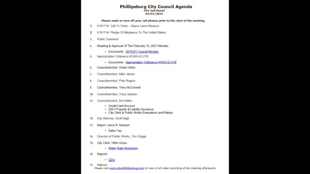 City Council Meeting 03/01/2021