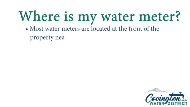 How to locate and turn off your water meter