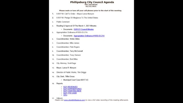 City Council Meeting 03/15/2021