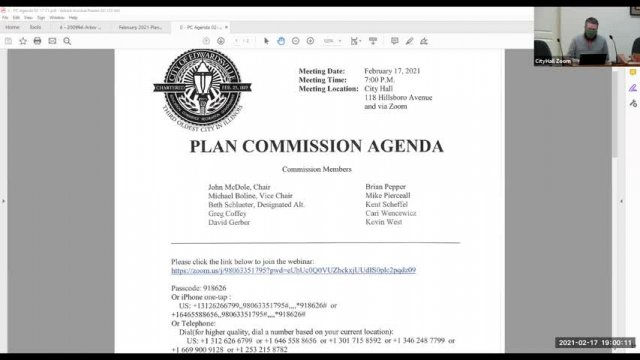 Plan Commission Meeting (2-17-21)